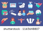 feminine hygiene products flat... | Shutterstock .eps vector #1165648807
