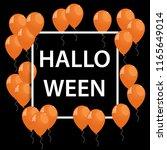 vector frame with orange... | Shutterstock .eps vector #1165649014