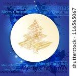 blue creative merry christmas...   Shutterstock .eps vector #116565067