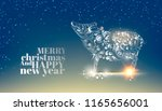 christmas background on the... | Shutterstock .eps vector #1165656001