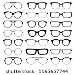different glasses in a flat... | Shutterstock .eps vector #1165657744