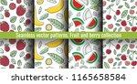 seamless pattern set. juicy...   Shutterstock .eps vector #1165658584