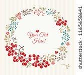 a gentle floral vintage... | Shutterstock .eps vector #1165658641