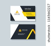 modern business card template... | Shutterstock .eps vector #1165662217