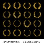 collection of different golden... | Shutterstock .eps vector #1165673047