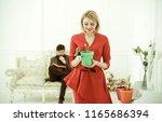 florist concept. florist woman... | Shutterstock . vector #1165686394