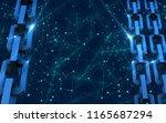 block chain concept.... | Shutterstock . vector #1165687294