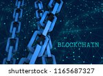 block chain concept....   Shutterstock . vector #1165687327