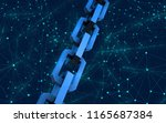 block chain concept.... | Shutterstock . vector #1165687384