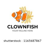 clown fish and sea anemone ... | Shutterstock .eps vector #1165687867