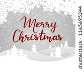 merry christmas card with... | Shutterstock .eps vector #1165695244