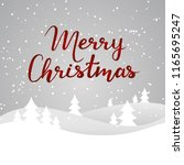 merry christmas card with... | Shutterstock .eps vector #1165695247
