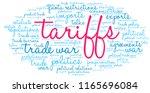 tariffs word cloud on a white...   Shutterstock .eps vector #1165696084