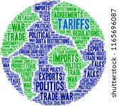tariffs word cloud on a white...   Shutterstock .eps vector #1165696087