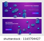 computing power and database... | Shutterstock .eps vector #1165704427