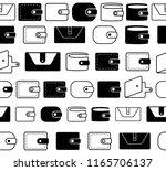 wallet vector icon seamless...