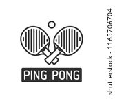 two ping pong rackets with ball ... | Shutterstock .eps vector #1165706704