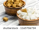 White Refined Sugar And Brown...