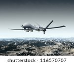 illustration of a combat drone... | Shutterstock . vector #116570707