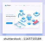 mining bitcoin concept landing... | Shutterstock .eps vector #1165710184