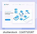cryptocurrency exchange... | Shutterstock .eps vector #1165710187
