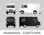 clean food truck identity... | Shutterstock .eps vector #1165711654