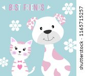 greeting card best friends dog... | Shutterstock .eps vector #1165715257