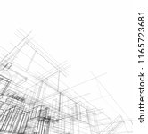 architecture 3d illustration | Shutterstock . vector #1165723681