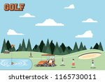 golf players people in the... | Shutterstock .eps vector #1165730011