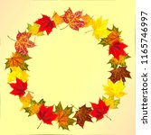 Autumn Maple Leaves With...