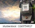 electricity meter natural power ... | Shutterstock . vector #1165754917