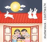 mid autumn festival or zhong...   Shutterstock .eps vector #1165756174