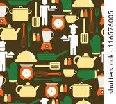 kitchen seamless pattern.... | Shutterstock .eps vector #116576005
