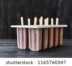 cold summer dessert. homemade... | Shutterstock . vector #1165760347