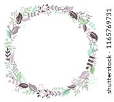 vector hand drawn floral round... | Shutterstock .eps vector #1165769731