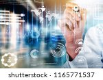 new technologies for business | Shutterstock . vector #1165771537