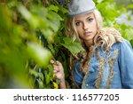 autumn girl portrait   Shutterstock . vector #116577205