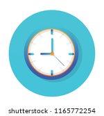 clock icon flat vector design   Shutterstock .eps vector #1165772254