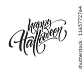 happy halloween. hand drawn... | Shutterstock .eps vector #1165772764