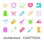 needlework silhouette icons set....   Shutterstock .eps vector #1165774231