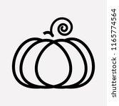 pumpkin icon line element.... | Shutterstock .eps vector #1165774564