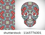 day of the dead colorful sugar... | Shutterstock .eps vector #1165776301