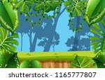 empty jungle enviroment scene... | Shutterstock .eps vector #1165777807