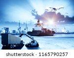 logistics and transportation of ... | Shutterstock . vector #1165790257