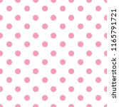 pink and white seamless polka... | Shutterstock .eps vector #1165791721