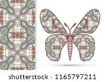 decorative butterfly and... | Shutterstock .eps vector #1165797211