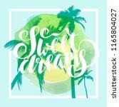 sweet dreams. calligraphic... | Shutterstock .eps vector #1165804027
