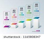 infographics box square paper... | Shutterstock .eps vector #1165808347