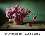 Still Life With Pink Asters