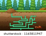 game ant maze find their way to ... | Shutterstock .eps vector #1165811947